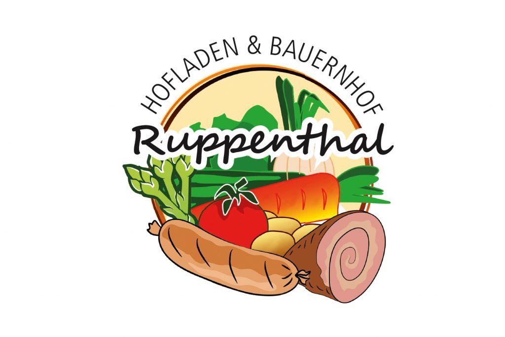 Kunde: Hofladen-Ruppenthal . Pfungstadt . Logogestaltung, Etiketten, Schilder, Anzeigen, Gutscheine ...