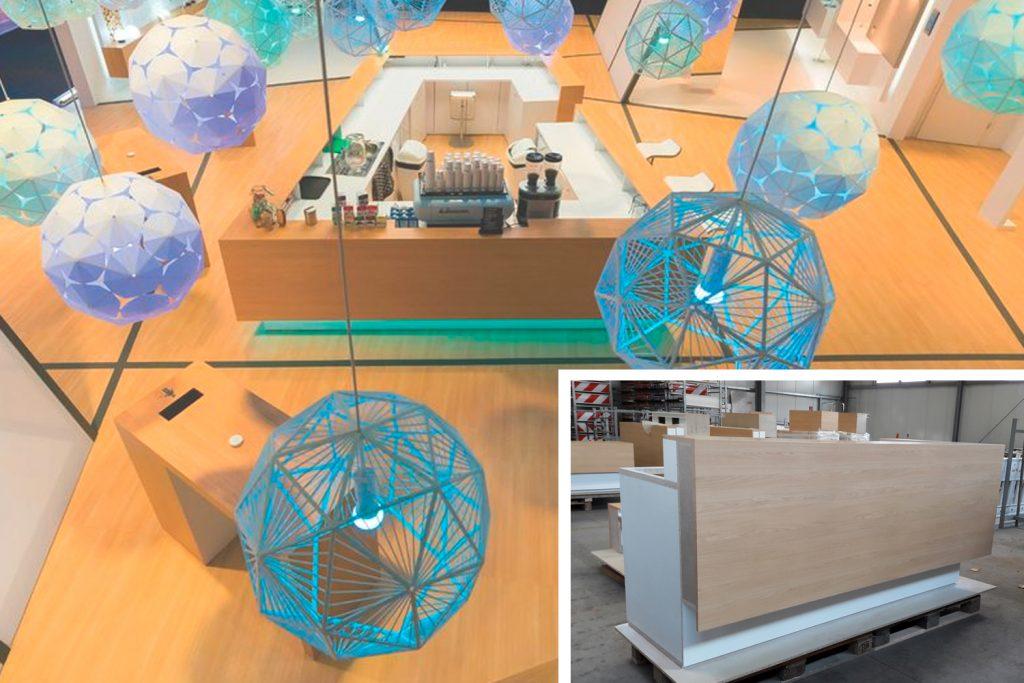 Kunde: MDL Expo . Trebur . Folierung kompletter Möbel-Serie