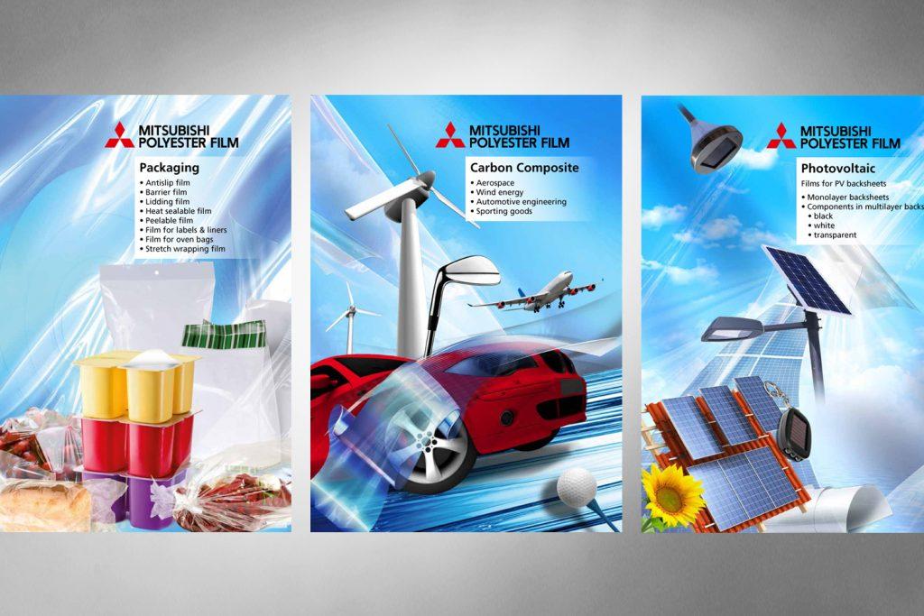 Kunde: Mitsubishi Polyester . Wiesbaden . Entwurf und Druck von Kampagnen Plakaten