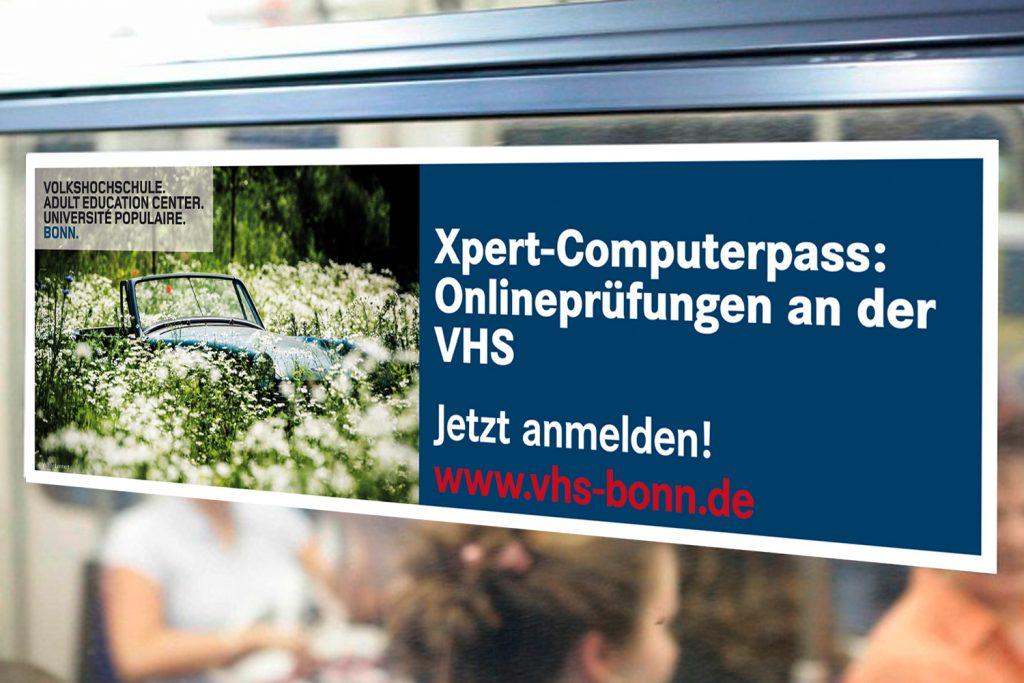Kunde: Verkehrswerbung Lloyd Schiffmann GmbH & Co. KG . Bonn . Seitenscheiben Aufkleber für Bus und Bahn