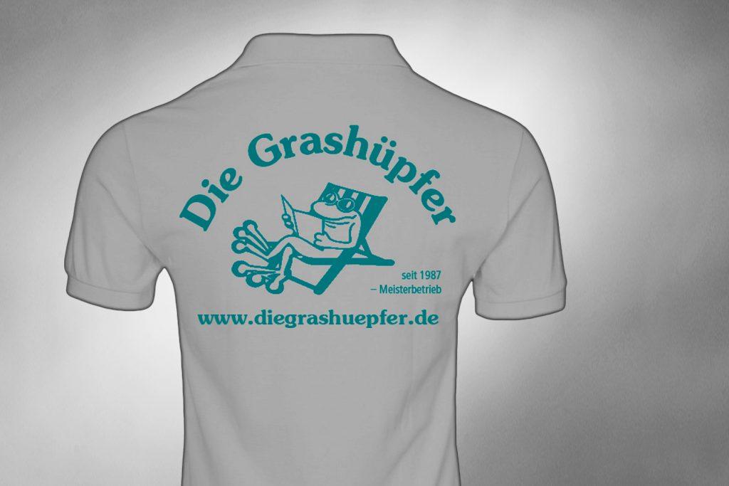 Kunde: Die Grashüpfer Garten- Landschafts- und Friedhofspflege GmbH . Groß-Gerau . T-Shits mit Logodruck, Aufkleber, Kalender, Visitenkarten, Fuhrpark Beschriftung ...